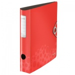 Папка-регистратор А4 Leitz 180° Active Bebop красная, 50 мм, 10480025