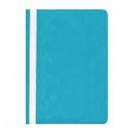 Скоросшиватель пластиковый Бюрократ голубой, А4, PS20AZURE