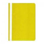 Скоросшиватель пластиковый Бюрократ желтый, А4, PS20YEL