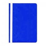 Скоросшиватель пластиковый Бюрократ, А4, синий
