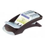 Картотека для визиток Durable Visifix Desk на 200 карточек, черно-серебристая, 245х131х67мм, 2413-01