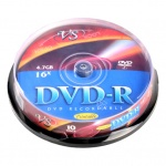 Диск DVD-R Vs 4.7Gb, 16x, Cake Box, 10шт/уп