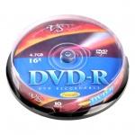 Диск DVD-R Vs 4.7Gb, 16x, Cake Box, 10шт/уп