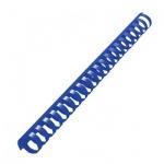 Пружины для переплета пластиковые Gbc, на 170-210 листов, 22мм, 50шт, кольцо, синие