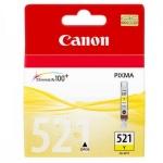 Картридж струйный Canon CLI-521Y, желтый, (2936B004)