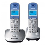 Радиотелефон Panasonic KX-TG2512RU платиновый, 2 трубки