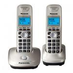 Радиотелефон Panasonic KX-TG2512RUS, 2 трубки, серебро