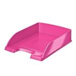 Лоток горизонтальный для бумаг Leitz Wow А4, розовый