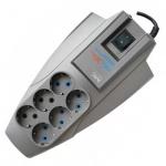 Сетевой фильтр Pilot Zis X-Pro 6 розеток, серый, 1,8м, серый