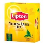 Чай Lipton, черный, 100 пакетиков, Yellow Label
