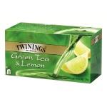 Чай Twinings Green, зеленый, 25 пакетиков, Green Lemon, 25 пакетиков