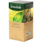 Чай Greenfield Green Melissa (Грин Мелисса), зеленый, 25 пакетиков
