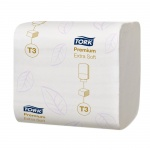 Туалетная бумага Tork Premium T3, 114276, листовая, 252шт, 2 слоя, белая