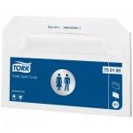 Индивидуальные покрытия на унитаз Tork Advanced V1, 750160-18, белые, 250шт