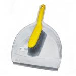 Совок для мусора Fratelli Re Apex малый, с щеткой, прозрачный
