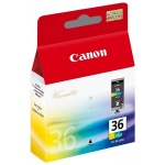 Картридж струйный Canon CLI-36, 3цв.+ 100 листов бумаги GP-501
