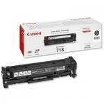 Тонер-картридж Canon 718BK, черный, (2662B002)