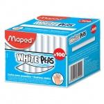 Набор мелков для асфальта Maped White'Peps белые, круглые, 100шт