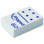 Ластик Maped Domino 60, белый, 511220