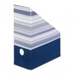 Накопитель вертикальный для бумаг Herlitz Montana А4, 115мм, синий, 10085074