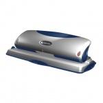 Дырокол Rexel Premium до 25 листов, серебристо-синий, на 4 отверстия, P425