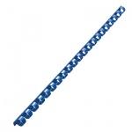 Пружины для переплета пластиковые Gbc, на 40-70 листов, 10мм, 100шт, кольцо, синие