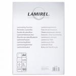 Пленка для ламинирования Lamirel 75мкм, 100шт, 216х303 мм, глянцевая