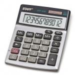 Калькулятор настольный Staff STF-1212 серебристый, 12 разрядов