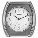 Часы настенные Scarlett SC-55QU бело-серебристые, 28.6х28.6х4см, четырехугольные