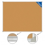 Доска пробковая Brauberg 231711, коричневая, алюминиевая рама, 45х60см
