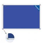 Доска текстильная Brauberg 231700 60х90см, синяя, алюминиевая рама