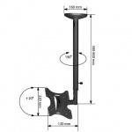 """Кронштейн для ТВ Arm Media LCD-1000 VESA75-200, 10-37"""", до 32-30 кг, потолочный"""