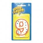 Свеча для торта Веселая Затея цифра 9, 7.6см