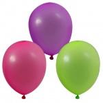 Воздушные шары Веселая Затея 12 неоновых цветов, 25см, 100шт, в пакете, 1101-0002
