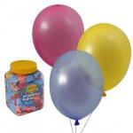Воздушные шары Веселая Затея 14 цветов, 25см, 200шт, в банке, 1110-0003