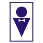 Знак Туалет мужской 120х190мм, самоклеящаяся пленка ПВХ, В 37