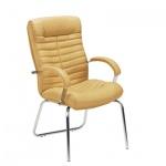 Кресло посетителя Nowy Styl Orion CFA нат. кожа, песочная, на ножках