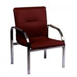 Кресло посетителя Nowy Styl Staff иск. кожа, бордовая, на ножках, хром