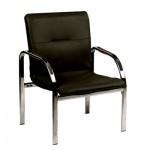 Кресло посетителя Nowy Styl Staff иск. кожа, черная, на ножках, хром