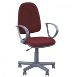 Кресло офисное Nowy Styl Jupiter GTP ткань, JP, крестовина пластик, бордо