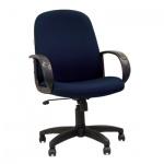 Кресло руководителя Chairman 279-M ткань, синяя, JP 15-5, крестовина пластик, низкая спинка