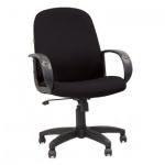 Кресло руководителя Chairman 279-M ткань, черная, JP, крестовина пластик, низкая спинка