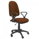 Кресло офисное Бюрократ Престиж ткань, крестовина пластик, коричневое