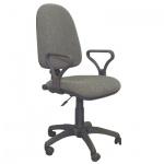 Кресло офисное Бюрократ Престиж ткань, серая, крестовина пластик
