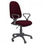 Кресло офисное Бюрократ Престиж ткань, черная, бордовая, крестовина пластик