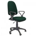 Кресло офисное Бюрократ Престиж ткань, черная, зеленая, крестовина пластик