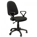 Кресло офисное Бюрократ Престиж ткань, черная, крестовина пластик