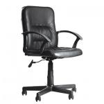 Кресло офисное Бюрократ Чип иск. кожа, черная, крестовина пластик