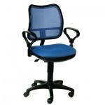 Кресло офисное Бюрократ CH-799BL ткань, синяя, крестовина пластик
