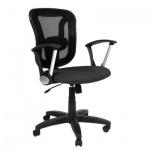 Кресло офисное Chairman 452 ткань, TW, крестовина пластик, черное
